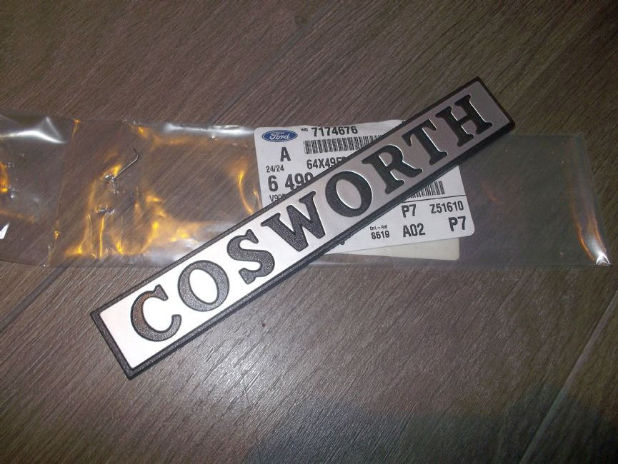 Cosworth Badge